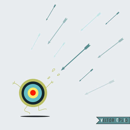 Target and arrow , vector