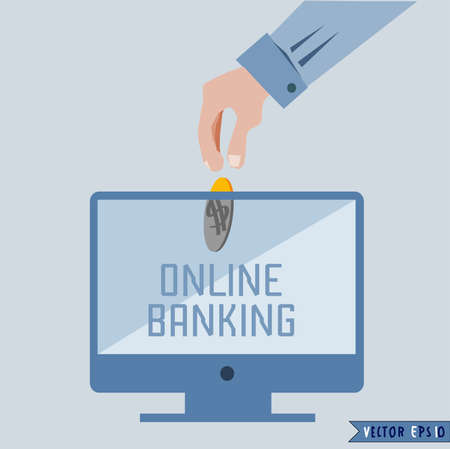 Online payments concept  Stock Vector - 21325994