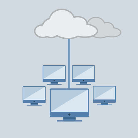 Cloud computing, technology connectivity concept Vector