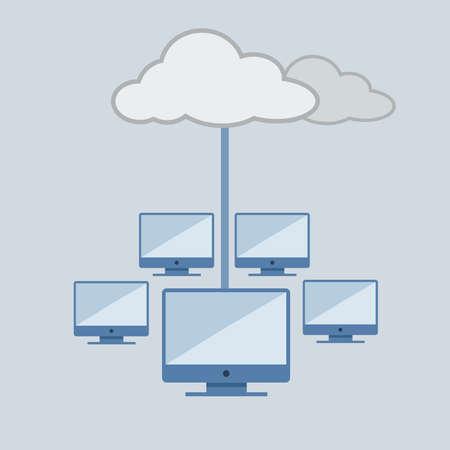 conectividad: La computaci?n nube, concepto tecnolog?de conectividad