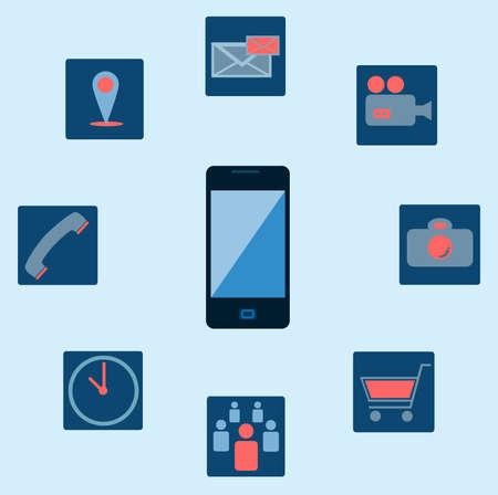 Smartphone application icon Vector
