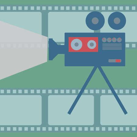 Movie projector Illustration