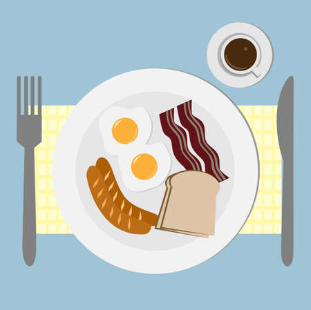 The breakfast Vector
