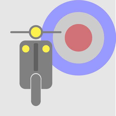 vespa piaggio: scooter d'epoca Vettoriali