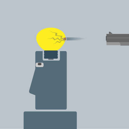 gun light bulb Stock Vector - 22957010