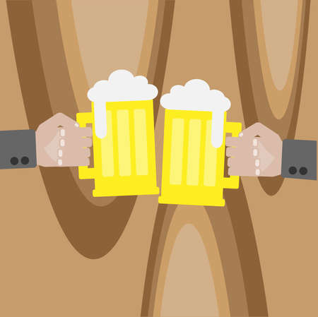gaiety: Two men with glasses of beer