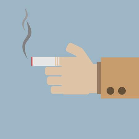 Smoking dangerous cigarette Stock Vector - 24969474