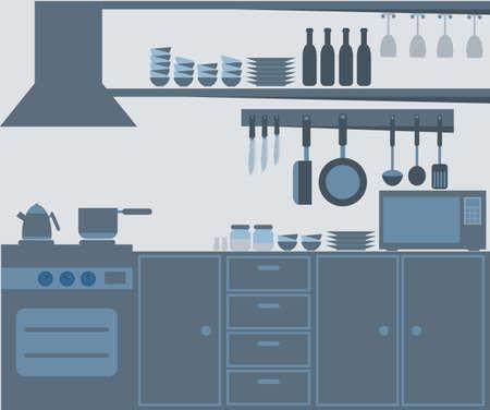 Moderna cocina Interior