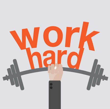 kemény: Dolgozz keményen koncepció