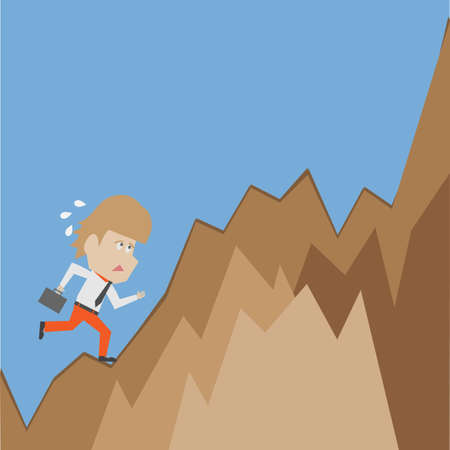 Businessman Climbing Vector