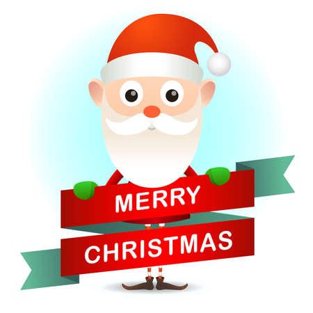 Christmas card with Santa Claus Illustration