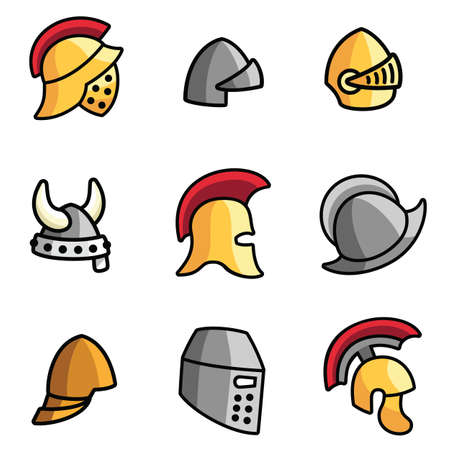 the crusades: Old Helmets