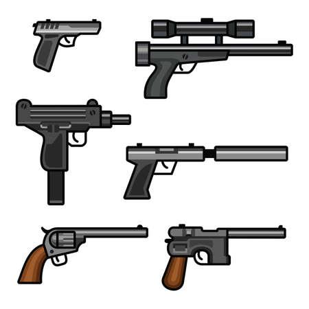 Set of guns Illustration