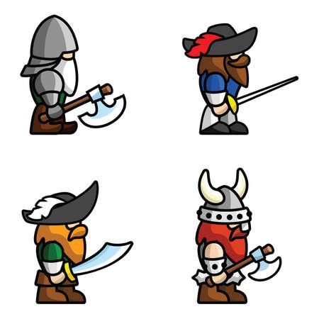 Historische Schlacht Charakter Illustration