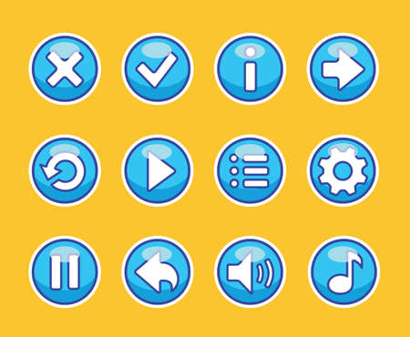Aqua buttons for game Illustration