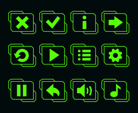 LED green buttons for game