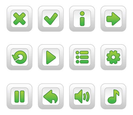 Green buttons for game Illustration