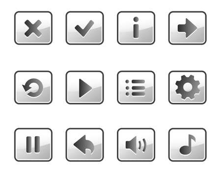 Metallic buttons for game Illustration