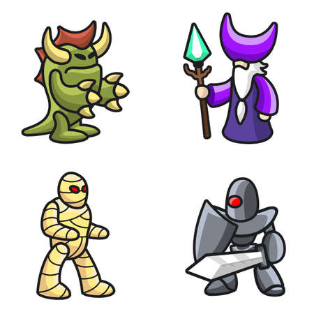 Monster characters Illustration