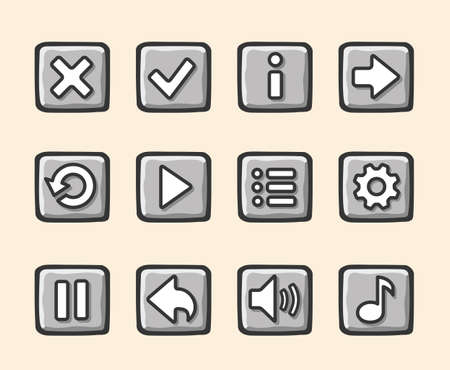 Stone buttons for game