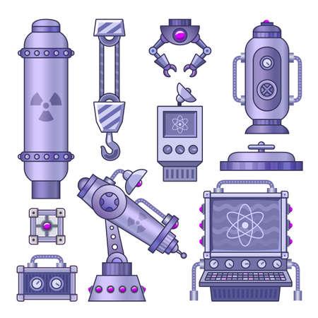 cartoon atom: Lab assets