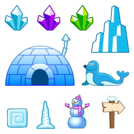 igloo: Ice world assets