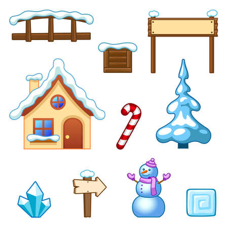 Winter assets Illustration