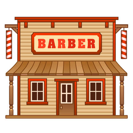 Wild West barber Vector