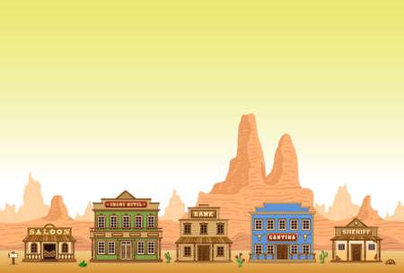 Wild-West-Stadt Illustration