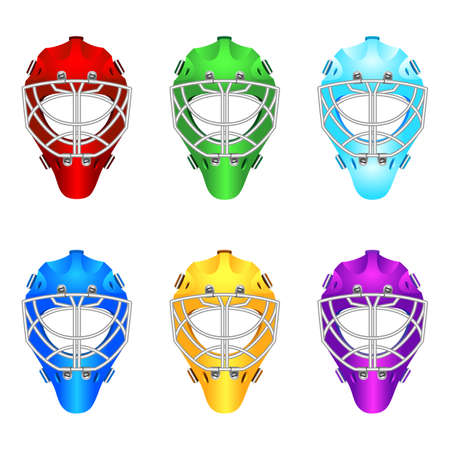 Goalie helmets Illustration