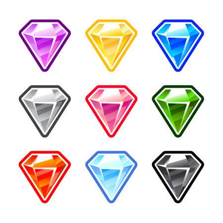 Colorfull Diamonds Illustration