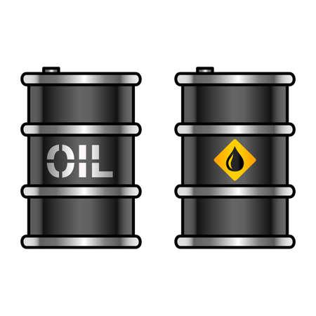 Oil barrels Illustration