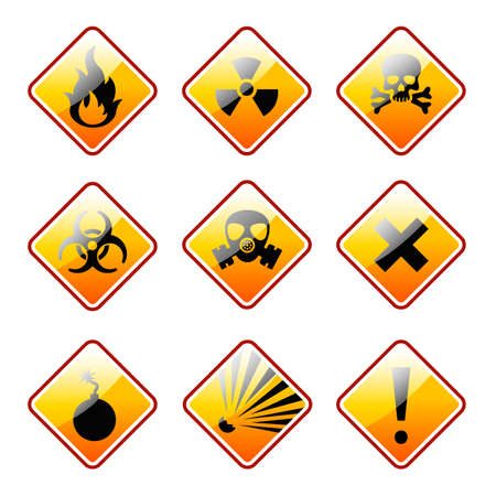 warning signs: range warning signs Illustration