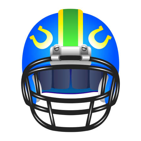 american football helmet set: Football helmet with horseshoe