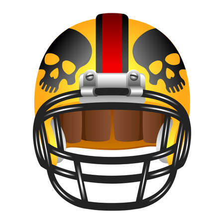 Football helmet with skull Vector