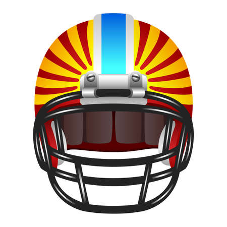 american football helmet set: Football helmet with stripes Illustration