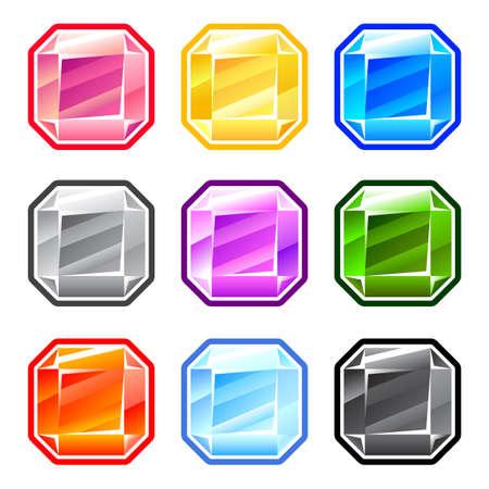 Colorful Square Diamonds