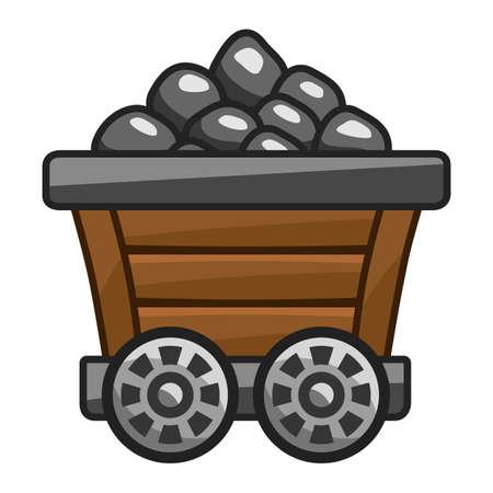 Mine cart with coal