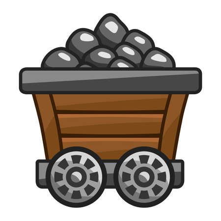 Mine cart with coal