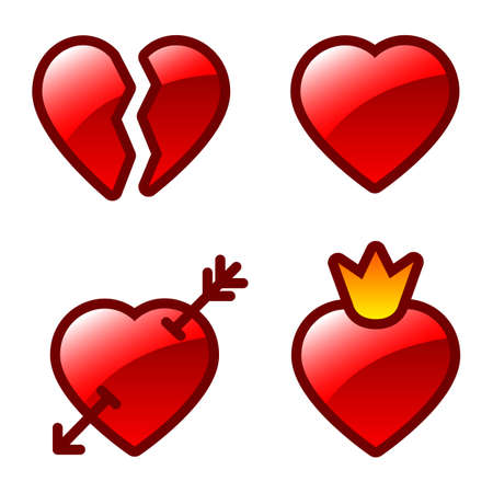 heart with crown: heart icons