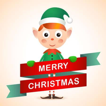 christmas elf: Christmas Elf Card
