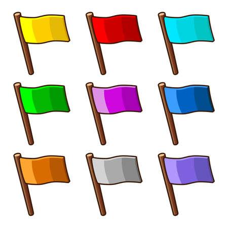 флагшток: Красочные флаги
