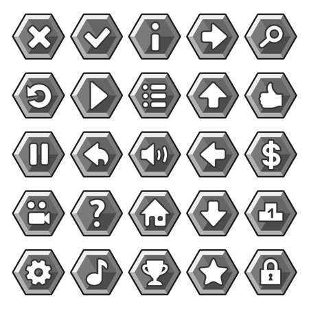 Stone game buttons