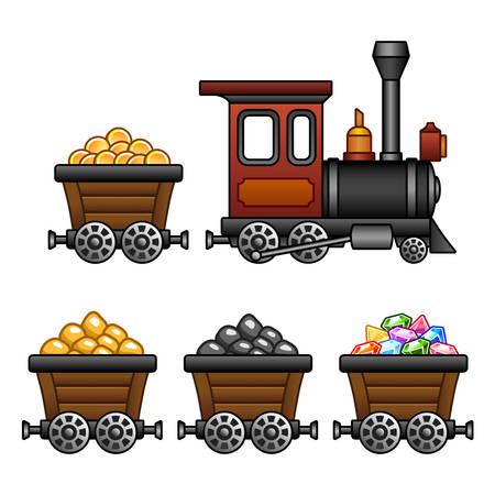 Train with mine tubs