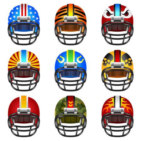 Football-Helm-Set