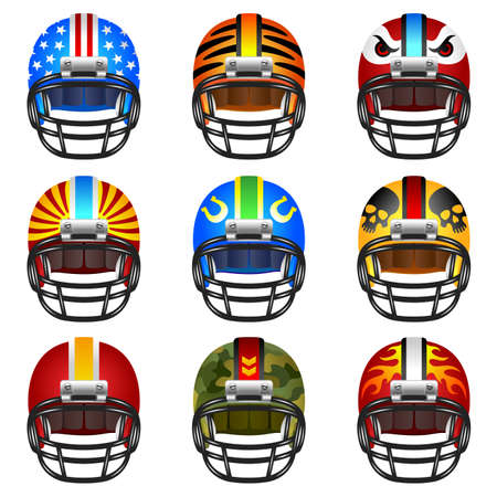 Football helmet set