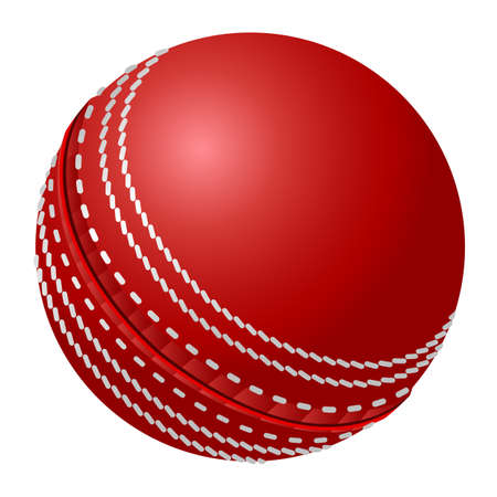 cricket ball: Vector cricket ball