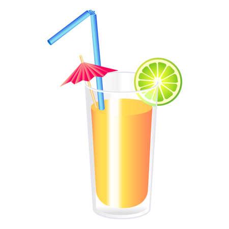 Vector orange cocktail  Ilustração