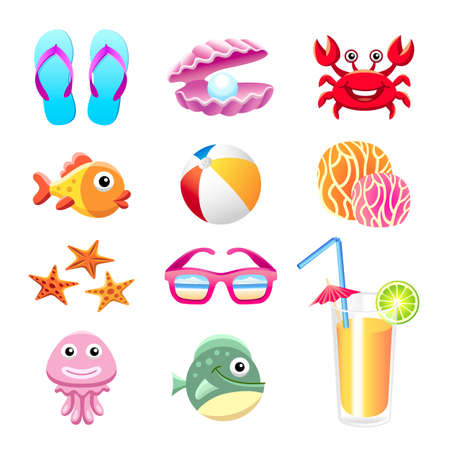 Beach set Stock Vector - 25236620