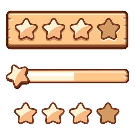 Wooden progress bar selection